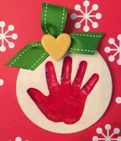 Handprint Ornament $35